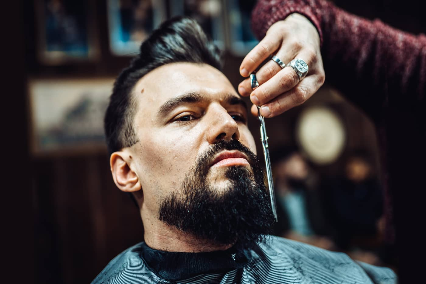 Learn how to trim a beard in our workshop