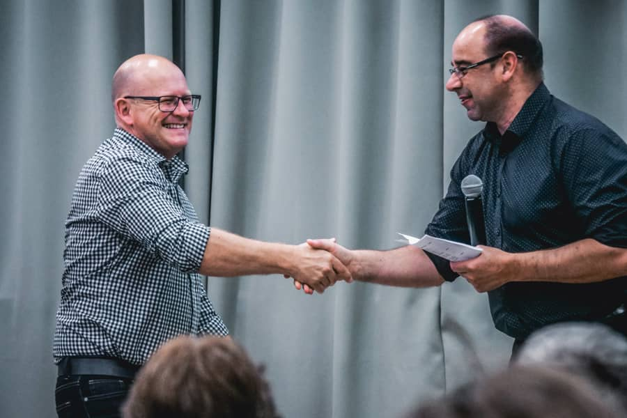 We received an award – electrician of the year!