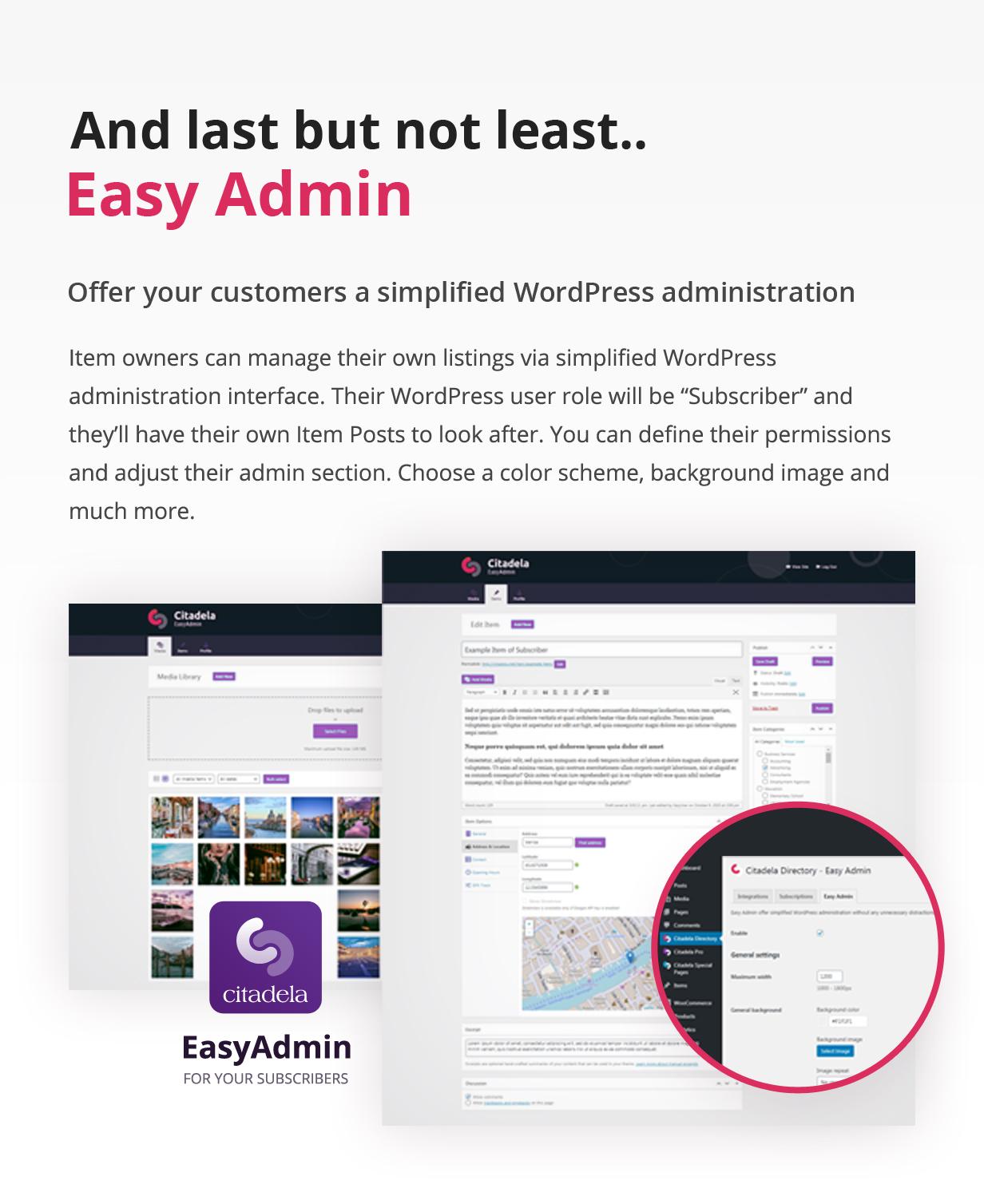 Administração simplificada do WordPress
