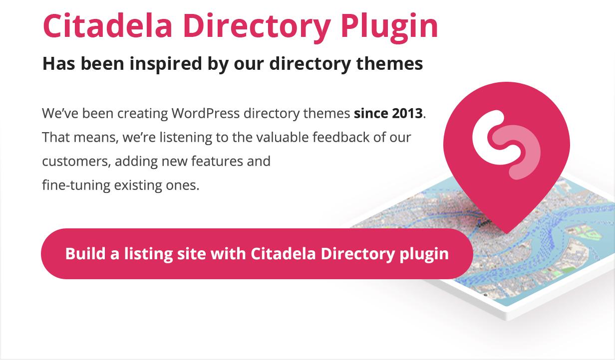 Plugin Directoy inspirado em nossos temas de diretório