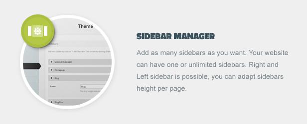 Sidebar Manager