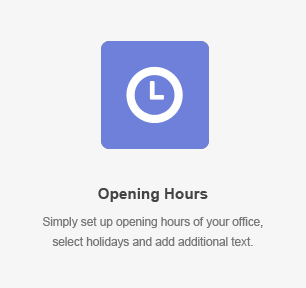 Opening Hours Element
