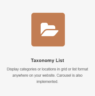 Taxonomy List Element