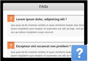 FAQs Element